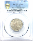 Canada: 1920 25 Cents PCGS MS66