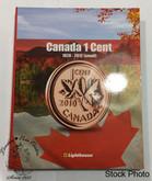 Canada 1 Cent Vista Coin Album 1920  to 2012 (Small) (Colourful)