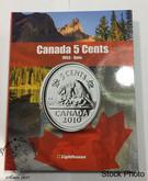 Canada 5 Cent Vista Coin Album 1953 - Date (Colourful)