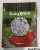 Canada 25 Cent Vista Coin Album 1858 - 1952 (Colourful)