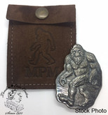 Bigfoot Sasquatch Bar - 3oz Fine Silver with Custom Leather Storage Pouch