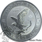 Canada: 2016 $2 Bald Eagle 1/2 oz. Pure Silver Coin **Milk Spots**