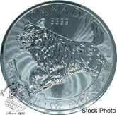 Canada: 2018 $5 Predator Series Wolf Pure Silver Coin