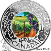 Canada: 2019 $3 Celebrating Canadian Fun and Festivities: Wine Tasting Pure Silver Coloured Coin