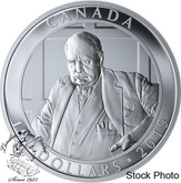 Canada: 2019 $100 Winston Churchill: The Roaring Lion 10oz. Pure Silver Coin