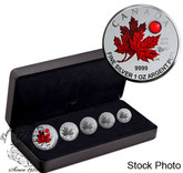 Canada: 2020 5-Coin Maple Leaf - O Canada Pure Silver Fractional Set