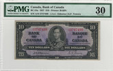Canada 1937 $10 Banknote Osborne-Towers A/D BC-254a PMG VF30