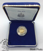 Canada: 1996 $2 Toonie 22k Gold Coin in Blue Clamshell Case