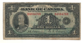 Canada: 1935 $1 Banknote - Bank of Canada English BC-1b Lot#2