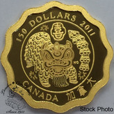 Canada: 2011 $150 Blessing of Happiness Pure Gold Coin *Staple holes in COA*