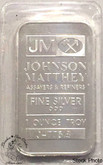Johnson Mathey 1 oz Numbered Pure Silver Bar Scarce!