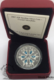 Canada: 2007 $20 Blue Crystal Snowflake Silver Coin
