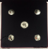 Canada: 2013 Canadian Icons 5-Coin Pure Silver Coin Set