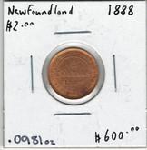 Canada: Newfoundland 1888 $2 Gold Coin