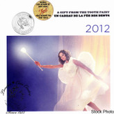 Canada: 2012 Tooth Fairy Gift Card - Stylized Fairy Quarter