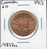 Canada: 1913 $10 Gold Coin George V Lot#2