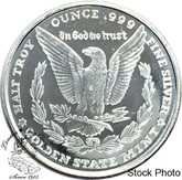 1/2 oz. Silver Eagle / Morgan Pure Silver Round