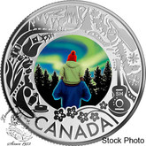 Canada: 2019 $3 Celebrating Canadian Fun and Festivities: Aurora Borealis Pure Silver Coin