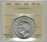 Canada: 1945 50 Cent ICCS MS62