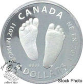Canada: 2011 $4 Born in 2011 Baby Feet Silver Coin