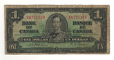 Canada: 1937 $1 Bank Of Canada Banknote BC-21a Lot#9