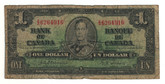 Canada: 1937 $1 Bank Of Canada Banknote BC-21a Lot#10