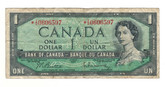 Canada: 1954 $1 Bank Of Canada Replacement Banknote BC-37bA Lot#2