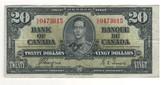 Canada: 1937 $20 Bank Of Canada Banknote BC-25c Lot#28