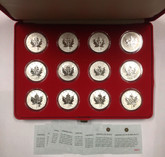 Canada: 2004 $5 1 oz Zodiac Privy Silver Maple 12 Coin Set