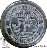 Canada: 5 oz Beaver Bullion Poured Button - Mining Your Own Business