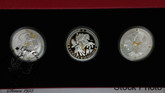 Canada: 2019 $20 Norse Gods: 1 oz. Pure Silver Gold-Plated 3 Coin Set