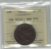 Nova Scotia: 1856 1/2 Penny Token ICCS EF40