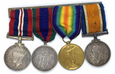 Canada: WWI & WWII Medal Group PTE. E.C. Franklin. C.M.G BDE.