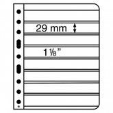 Lighthouse Vario S Plastic Pockets for Stamps - 8S - Black