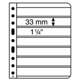 Lighthouse Vario S Plastic Pockets for Stamps - 7S - Black
