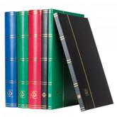Lighthouse Hard Cover BASIC Stamp Stockbook - 64 Black Pages - S64 - Black