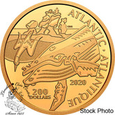 Canada: 2020 $200 Canadian Coastal Symbols: The Atlantic Pure Gold Coin