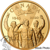 Canada: 2020 $100 75th Anniversary of V-E Day:  The Royal Canadian Air Force 14-karat Gold Coin