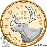 Canada: 2019 Big Coin Series: 25-Cent 5 oz. Pure Silver Reverse-Gold Plating Coin