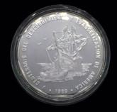 Dominican Republic: 1989 1 Peso Piedfort Pure Silver Coin