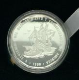 Dominican Republic: 1989 1 Peso Piedfort Pure Silver Coin Lot#2
