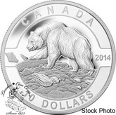 Canada: 2014 $10 Grizzly Bear 1/2 oz Pure Silver Coin