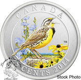 Canada: 2014 25 Cents Eastern Meadowlark Coloured Coin