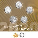 Canada: 2020 25 Cent Numis-Tastic! 5 Coin Set