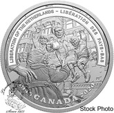 Canada: 2020 $20 Second World War: Battlefront Series: The Liberation of The Netherlands Fine Silver Coin