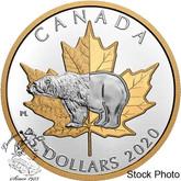 Canada: 2020 $25 Timeless Icons: Polar Bear Fine Silver Piedfort Coin