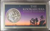 Australia: 1990 $5 Kookaburra 1 oz Silver in Presentation Case