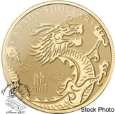 Canada: 2012 $5 Year of the Dragon 1/10 Gold Coin