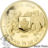 Canada: 2012 $10 War of 1812 1/4 oz Gold Coin