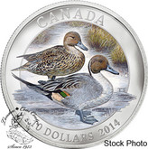 Canada: 2014 $10 Pintail Duck Pure Silver Coin
